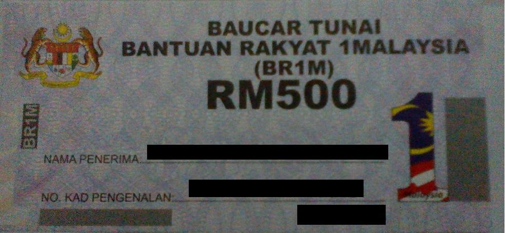 Menebus baucar BR1M  Nadi Rakyat Putrajaya